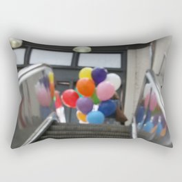Balloons on an Escalator Rectangular Pillow
