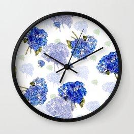 Hydrangea Nosegays Wall Clock