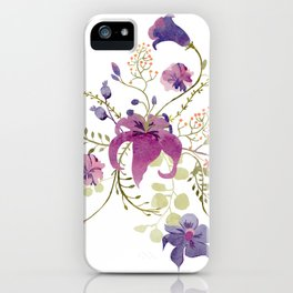Floral tenderness iPhone Case