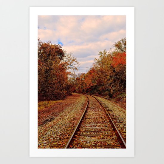 Fall on the Tracks Art Print