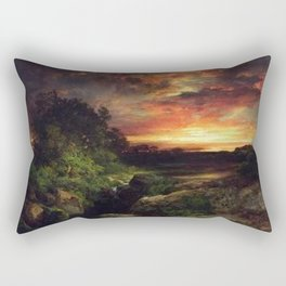 Sunset at the Grand Canyon landscape painting by Thomas Moran Rectangular Pillow