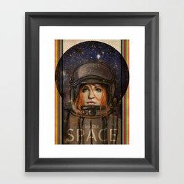 Give me Space (Girl) Framed Art Print