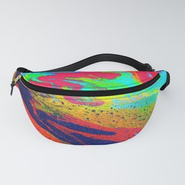 Abstract glitter art landscape painting Fanny Pack