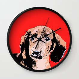 """Twist and Shout"" ~ Dachshund, Weiner Dog, Doxie, everywhere!   Wall Clock"