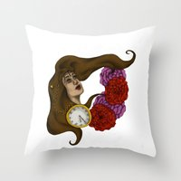gypsy Throw Pillows featuring Gypsy by Rene Robinson