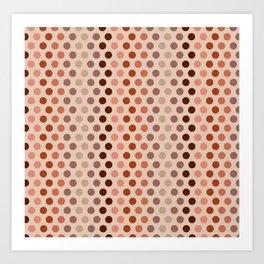 Emelina dots apricot Art Print