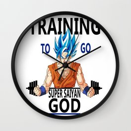 Training to go Super Saiyan God Wall Clock