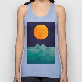 The ocean, the sea, the wave - night scene Unisex Tank Top