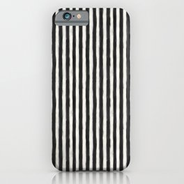 geo brush stripe vertical iPhone Case