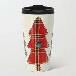 Country Christmas Trees Travel Mug