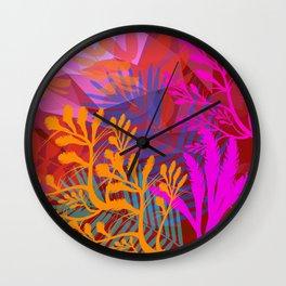 Jungle Jam Reds Wall Clock