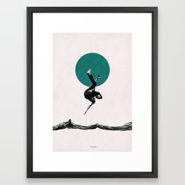 Falling with style Framed Art Print