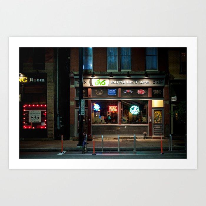 Bicycle Cafe Art Print