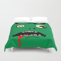 zombie Duvet Covers featuring Zombie  by WTF-Arts