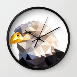 Eagle Illustration Wall Clock