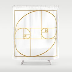 Golden Oval Shower Curtain