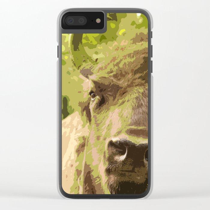 Bull #decor #buyart #society6 Clear iPhone Case