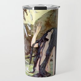 """""""The Marsh King's Daughter"""" Fairy Art by Anne Anderson Travel Mug"""