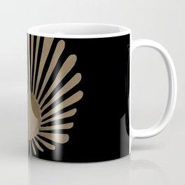 Gold Fan Palm Leaf Coffee Mug
