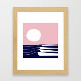 white moon Framed Art Print