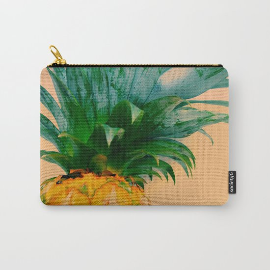 Pineapple in orange Carry-All Pouch