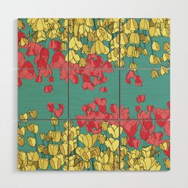 Spring Tulips Wood Wall Art