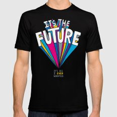 The Future Black Mens Fitted Tee SMALL