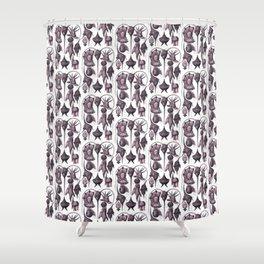 Ernst Haeckel Peridinea Fucshia Shower Curtain