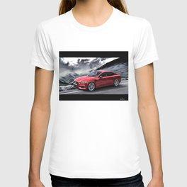 RED CAR ON TRANSFAGARASAN ROAD T-shirt
