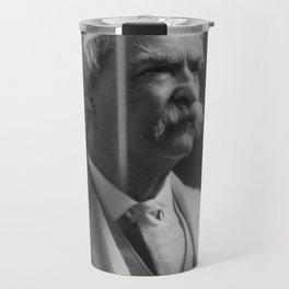 Mark Twain Portrait Travel Mug
