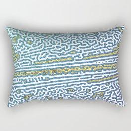 Ocean Waves and Golden Sands Rectangular Pillow
