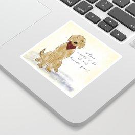 Golden Retriever Companion Quote Sticker