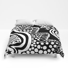 Soul Of The Dream Desert - Star Gazer (Black and White Edition) Comforters