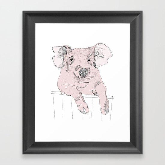 Piggywig Framed Art Print