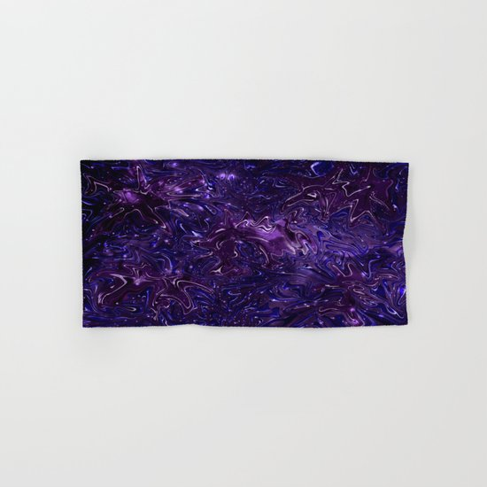 The Wolves Hidden in the Royal Purple Galaxy Hand & Bath Towel