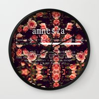lyrics Wall Clocks featuring Amnesia Lyrics by WanderlustHipster