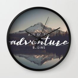 Trillium Adventure Begins - Nature Photography Wall Clock
