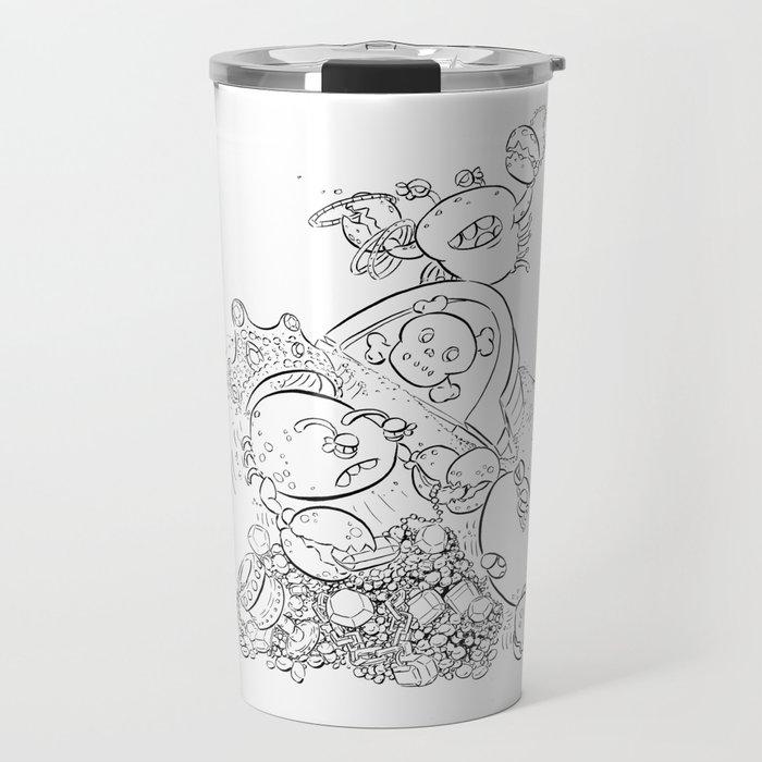 Buried Treasure - ink Travel Mug