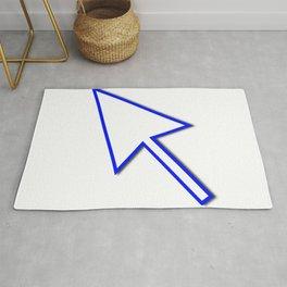 Cursor Arrow Mouse Blue Line Rug