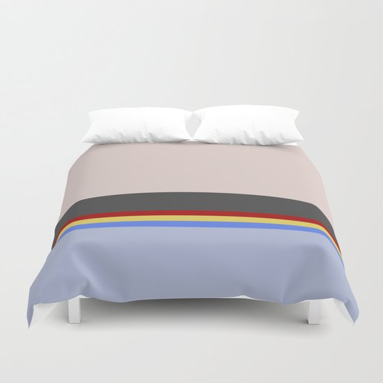 Wesley Crush er - Minimalist Star Trek TNG The Next Generation - 1701 D - startrek - Trektangles Duvet Cover