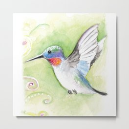 Cute Hummingbird Metal Print
