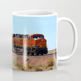 Orange BNSF Engines Coffee Mug
