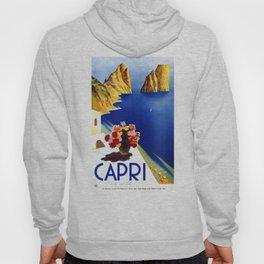 1952 Capri Italy Travel Poster Hoody