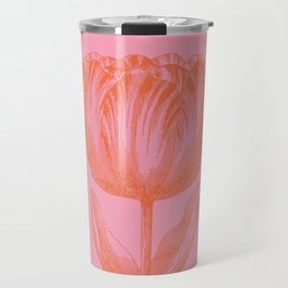 Dutch Tulip Illustration in Pink and Orange Travel Mug