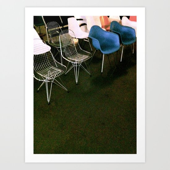 Eames Chairs Art Print
