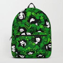 Panda Lover Giant Pandas Jungle Leaf Animal Wildlife Pattern Backpack