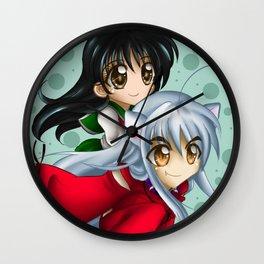Inuyasha & Kagome Chibi Wall Clock