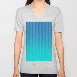 Gradient Stripes Pattern bt Unisex V-Neck