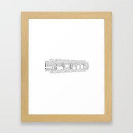 Run for relaxation, pleasure, health... white Framed Art Print