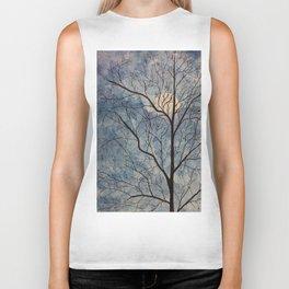 Winter Tree (Moon) Biker Tank
